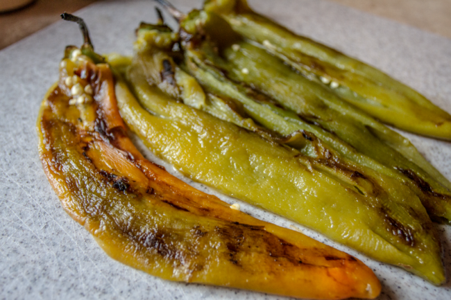 Stove Roasted Hatch Green Chiles / Photo I am New Mexico