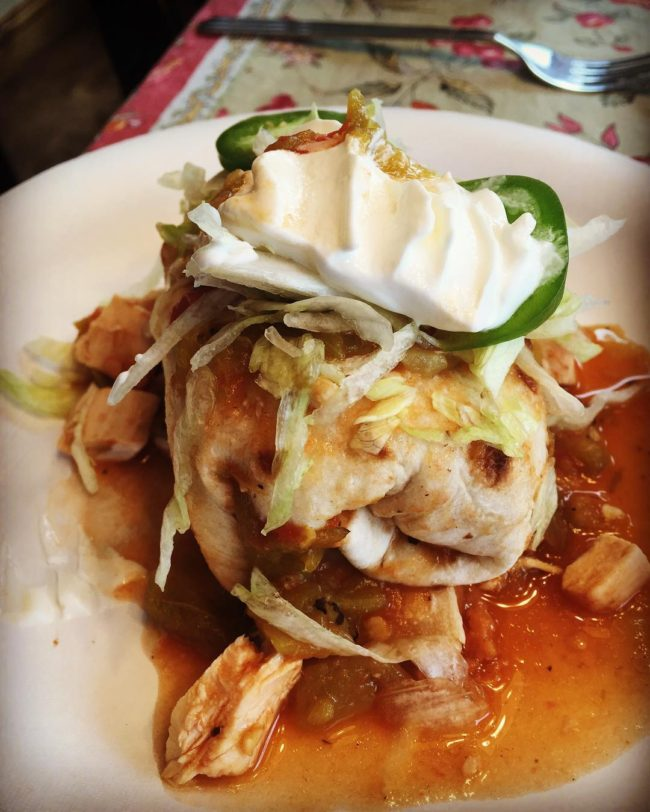 Chimichanga garnished with Jalapeno and Sour Cream / Photo by ig @jwmeade1