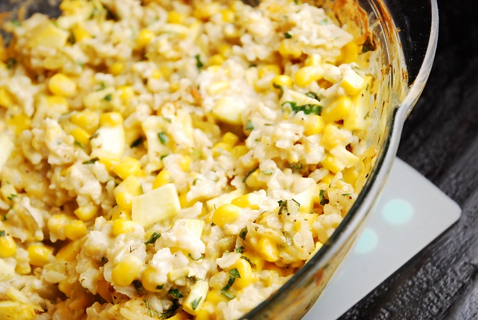 Vegetable And Green Chile Rice Casserole I Am New Mexico