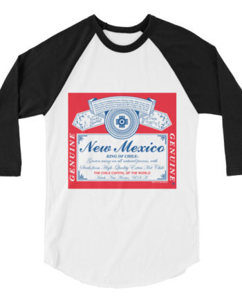 New Mexico King of Chile 3/4 Sleeve Unisex T-Shirt
