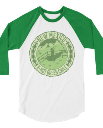3/4 Sleeve Unisex New Mexico Green Chile T-Shirt