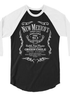New Mexico's Old No. 1 Hatch Green Chile 3/4 sleeve raglan shirt