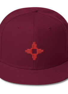 Wool Blend Snapback Red Square Zia Symbol Hat