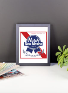 Framed Hatch New Mexico Blue Ribbon Chile