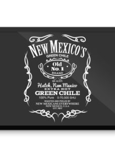 New Mexico's old no. 1 green chile. looks like jack daniels