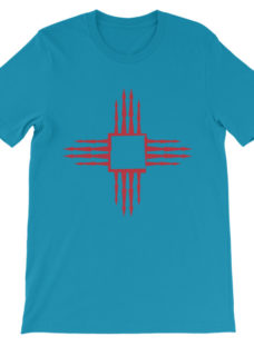 Unisex Pointed Red Square Zia Symbol T-Shirt