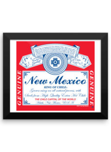 Framed New Mexico King of Chile Bar Sign