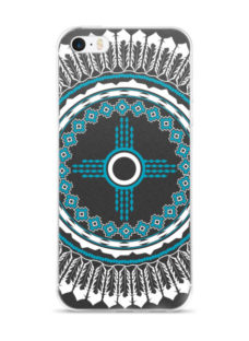 Round Feathered Concho Zia Symbol iPhone 5/5s/Se, 6/6s, 6/6s Plus Case